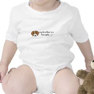 my brother is a beagle bodysuits