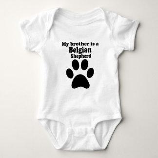 My Brother Is A Belgian Shepherd Baby Bodysuit