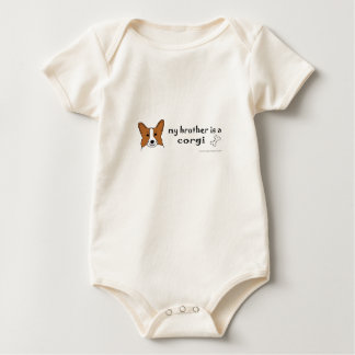 my brother is a corgi more breeds baby bodysuit