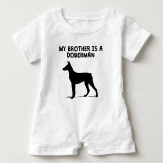 My Brother Is A Doberman Baby Bodysuit