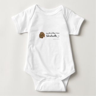 my brother is a labradoodle baby bodysuit
