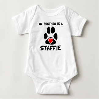 My Brother Is A Staffie Baby Bodysuit