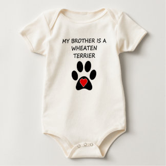 My Brother Is A Wheaten Terrier Baby Bodysuit