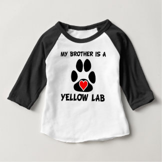 My Brother Is A Yellow Lab Baby T-Shirt