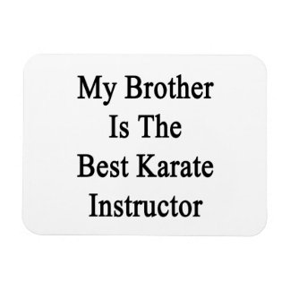 My Brother Is The Best Karate Instructor Vinyl Magnet