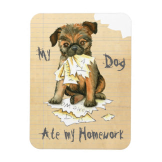 My Brussels Griffon Ate My Homework Magnet