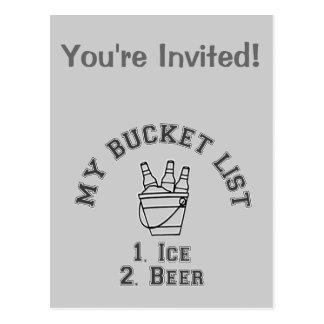 My Bucket List Humor - Ice Beer Postcard