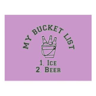 My Bucket List Humor - Ice Beer Post Card