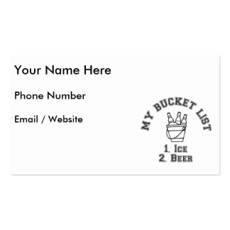 My Bucket List Humour - Ice & Beer Pack Of Standard Business Cards