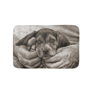 My Buddy Beagle Puppy Photographic Art Bath Mat