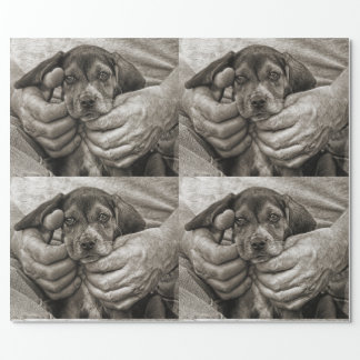 My Buddy Beagle Puppy Photographic Art Wrapping Paper