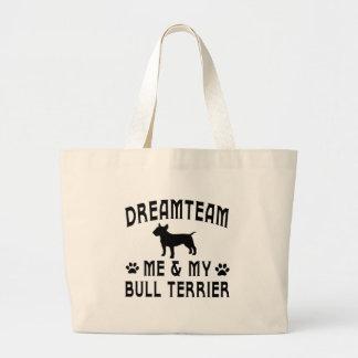 My Bull Terrier Dog Jumbo Tote Bag