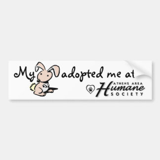 My bunny adopted me car bumper sticker