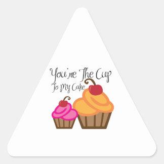 My Cake Triangle Stickers