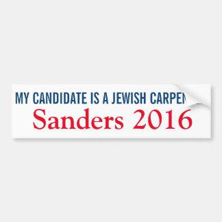 My Candidate is a Jewish Carpenter Bumper Sticker