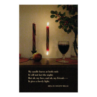 My Candle Burns at Both Ends--Millay 24W x 36H Poster