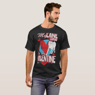 My Cane Corso Is My Valentine Funny Dog Distressed T-Shirt