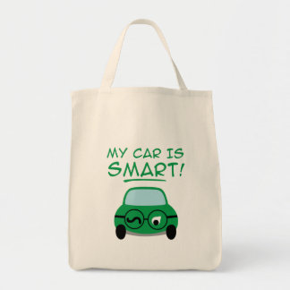 My Car Is Smart Canvas Bags