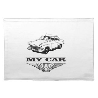 my car solid steel placemat