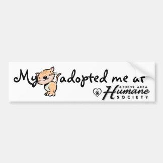 My cat adopted me at car bumper sticker
