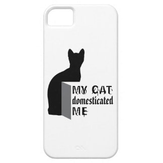 My cat domesticated me barely there iPhone 5 case