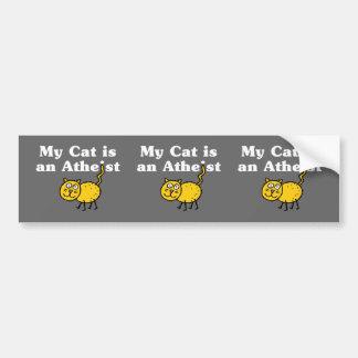 My Cat Is An Atheist Bumper Sticker