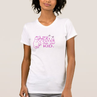 My cat is cuter than your kid tshirt