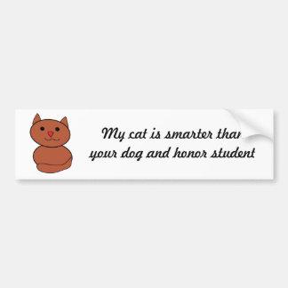 My Cat is Smarter Bumper Sticker