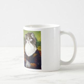 My Cat Kevin as the Mona Lisa - Basic White Mug