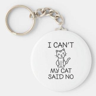 My Cat Said No Key Ring