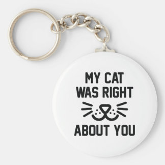 My Cat Was Right Key Ring