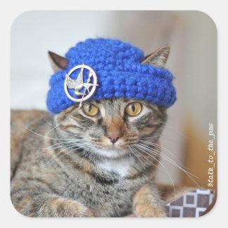 My cat wears hats stickers