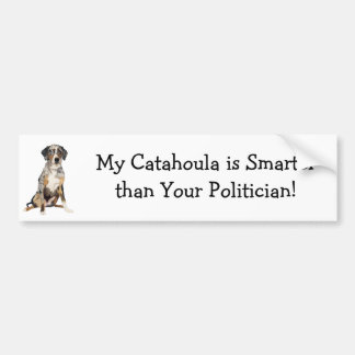My Catahoula is Smarter Than your Politician Bumper Sticker
