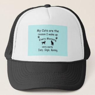 My Cats are the Reason I Wake Up Trucker Hat