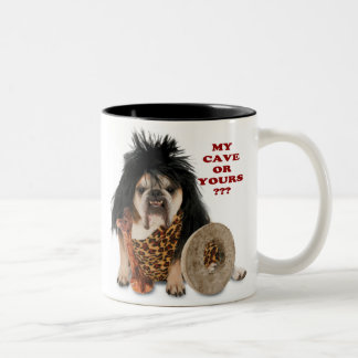 My Cave or Yours ? Two-Tone Coffee Mug