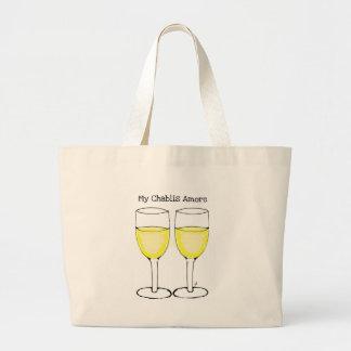 MY CHABLIS AMORE WHITE WINE PRINT BAG