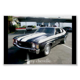 my chevelle poster