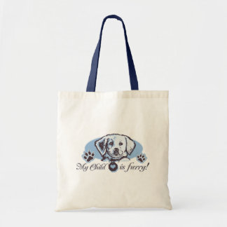 My Child is Furry by Mudge Studios Tote Bag