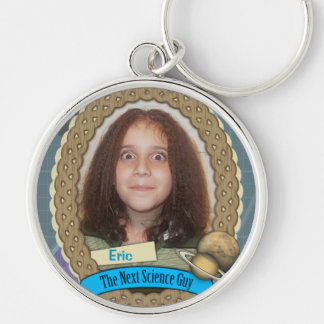 My Child is the Next Science Guy Silver-Colored Round Key Ring