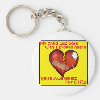 My Child Was Born With A Broken Heart Basic Round Button Key Ring