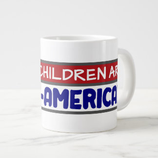 My Children Are Canine-American - Dog Lovers Large Coffee Mug