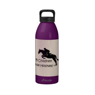 My Children Have Hooves Cute Horse Water Bottle
