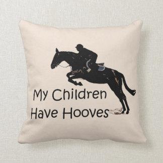 My Children Have Hooves Equestrian Horse Pillows Throw Cushion