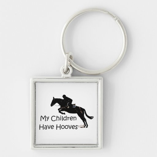 My Children Have Hooves Horse Square Keychain