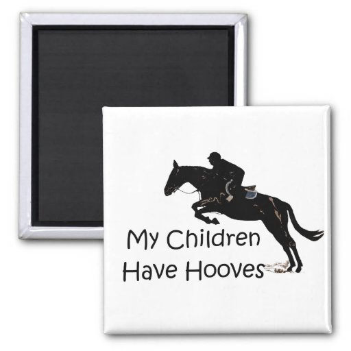 My Children Have Hooves Horse Square Magnet