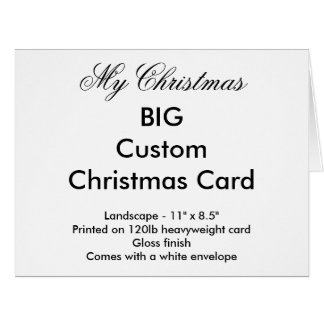 My Christmas Big Custom Christmas Card - Landscape