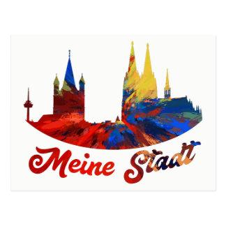 My city Cologne postcard