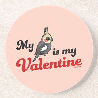 My Cockatiel Is My Valentine Beverage Coasters