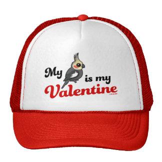 My Cockatiel Is My Valentine Cap
