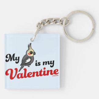 My Cockatiel Is My Valentine Key Ring